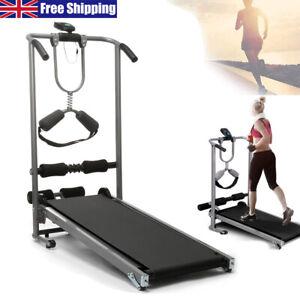 Folding Treadmill Running Machine Walking Jogging Cardio Fitness Gym Exercise UK