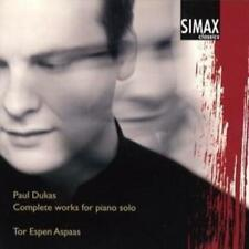 Paul Dukas : Complete Works for Piano Solo (Aspaas) CD (2004) ***NEW***
