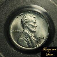 PCGS MS 66 1943 P 1c Lincoln Wheat Steel Cent MS 66  PCGS 72207271