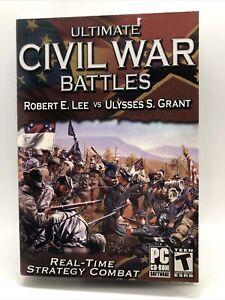 Ultimate Civil War Battles: Robert E. Lee vs. Ulysses S. Grant (PC, 2003) - new