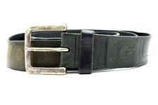 Vintage Mens Real Leather Belt Black Size 36
