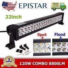 "20"" 120W FLOOD SPOT COMBO LED WORK LIGHT BAR OFFROAD UTE DRIVING SUV LAMP TRUCK"