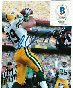 Autographed Green Bay Packers Football Mark Chmura Signed 8x10 Action Photo BCOA