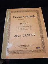 Partitura Excelsior Méthode para Piano Albert Landry Music Sheet