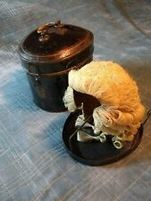 English Barrister's Wig in Tole Box with Riser
