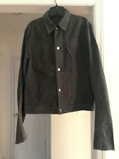 Helmut Lang Men's Size Small SP Moleskin Trucker Jacket in Onyx