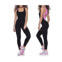 Sport Yoga Bandage Jumpsuit Bodysuit Women Backless Rompers Set Athletic 3071