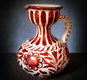 RARE CANTAGALLI RUBY HIGH LUSTRE EWER in the HISPANO/MOORESQUE STYLE