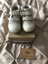 Ugg T Rennon Baby Boys Infant Size 5 High Tops White Trainer Reflective