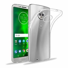 32nd Clear Gel Series - Transparent TPU Silicone Case Cover For Motorola Moto G6