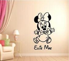 Personalised Baby Minnie Disney Wall Art Sticker Vinyl Decal Transfer Kids Girls