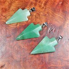 Green Aventurine Arrowhead Necklace Pendant Y14 Healing Crystals And Stones