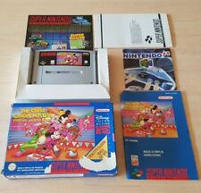 SNES SUPER NINTENDO BOXED CIB - THE GREAT CIRCUS MYSTERY MICKEY ( SNSP-4C-EUR )