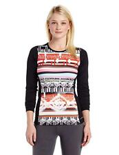 Hot Chillys Women's Micro Elite Chamois Print Crewneck Top - Small - NEW