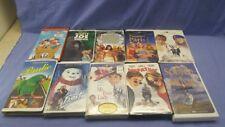 Lot of 10 VHS Tapes walt Disney Warner Bros. DreamWorks Childrens Family Movies