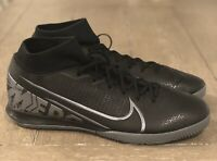 Nike Mercurial Superfly 7 Academy IC Indoor Soccer Shoes, Black/Grey, AT7975-001