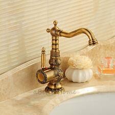 Luxury Carve Patterns Bathroom Sink Mixer Tap Vessel Swivel Spout Basin Faucet
