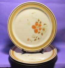 """HEARTHSIDE STONEWARE BLUSH WATER COLOR PLATES SIZE 10.5"""" FOUR"""