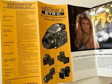Zenza Bronica ETR-C Medium Format Camera Brochure Japan 1978