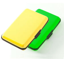 New RFID Protection Plastic Hard Case Security Wallet Neon Green/Yellow MSRP $20
