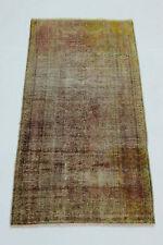 Antiguo Persa Vintage 190x90 oro rojo Arte Look Usado anudada a mano 2762