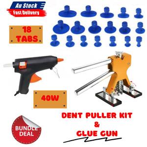 Glue Gun Auto Paintless Dent Repair Dint Hail Damage Remover Puller 18 Tabs Kit