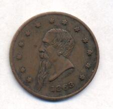 1863 Civil War Trade Token Gustavus Lindenmueller, New York
