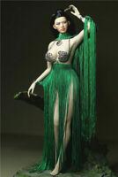 "1/6 Female Green Tassel  Dress Clothes Accessories F 12"" PH Big Bust Figure Body"