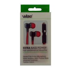 Vibe 36536 Extra Bass Power 3.5mm In-Line Earphone - Red