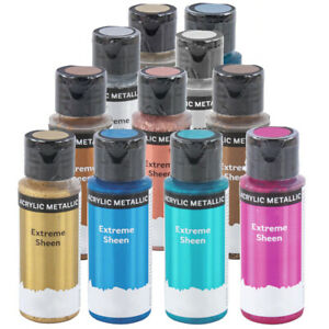 59ml Extreme Sheen Metallic Acrylic Paint for Adults Crafts - Choice of Colours