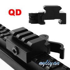"Quick Release 3/5"" Riser Rifle Base 20mm Picatinny Rail QD Mount Scope adapter"
