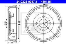 2x Bremstrommel für Bremsanlage Hinterachse ATE 24.0223-0017.1