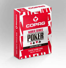COPAG WSOP WORLD SERIES OF POKER OFFICIAL PLAYING CARDS 100% PLASTIC JUMBO INDEX