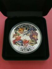 2015 Dragon & His Nine Sons Huge 5oz 999 Silver Proof Coloured Coin