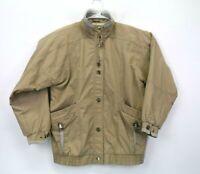 Current Seen Men's Medium Lightweight Button Up Long Sleeve Tan Jacket