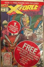 X-FORCE # 1 (VF)•Limited Edition•SiGnEd by ROB LIEFELD•CABLE Card•Cover Sticker•