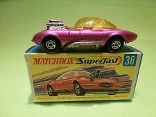 MATCHBOX SUPERFAST 36 DRAGUAR HOT ROD - PINK 1:65? - NEAR MINT IN BOX