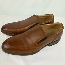 JOSEPH ABBOUD Size 11D Mens Brown Leather Slip On Loafers