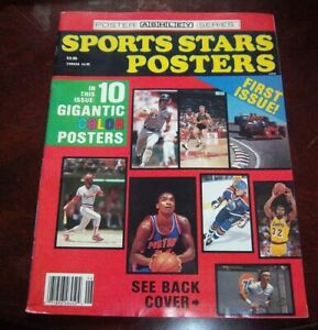 Sports Stars Posters 10 Gigantic Posters First Issue Wayne Gretzky / Larry Bird