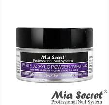 Mia Secret Acrylic Nail Powder 3D White, Pink, Clear 1/2 oz Bottle - MADE IN USA