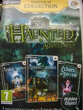 HAUNTED ADVENTURES---TRIPLE  PLAY COLLECTION--HIDDEN OBJECT GAMES--PC DVD