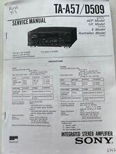 TA-A57 / D509 original Sony Stereo Amplifier Service Manual