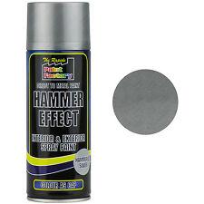 3 x Argento Martello Effetto Vernice Spray 400ml Can Interno Metallo Rust