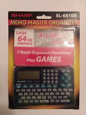 Sharp El-6810B Memo Master Organizer, 64kb Memory, 3-line Display New in package
