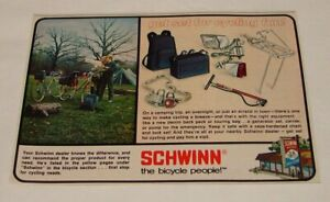 1975 SCHWINN bicycle accessories ad ~ GET SET FOR CYCLING FUN!