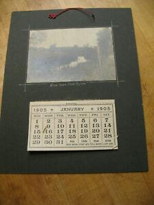 VIEW NEAR FORT BYRON AUBURN  N Y 1905   ORIGINAL CALENDAR  GELATIN   PHOTO
