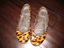 Tory Burch Patent Leather Cheetah Leopard Animal Print Ballet Flats Slip on 7.5M