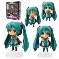"ANIME VOCALOID Nendoroid 33 # Hatsune Miku 4"" Action Figure 3Faces toy Gift NIB"