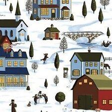 Fat Quarter Snow Day Winter Village 100% Cotton Quilting Fabric