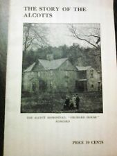 The Story Of The Alcotts - Louisa May, Orchard House, LITTLE WOMEN, 1889